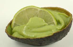 sweetened avocado on the half shell