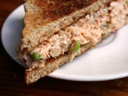 Spicy Tuna Sandwich with Garlic Whistles
