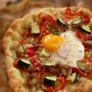 egg on pizza goodness