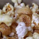 garlic hazelnut caramel corn