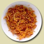 dried out orange zest