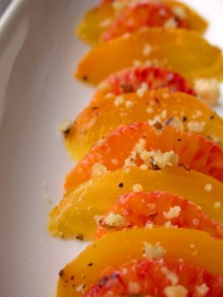 Golden Beets with Blood Orange