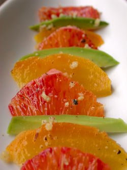 Golden Beets with Blood Orange and Avocado