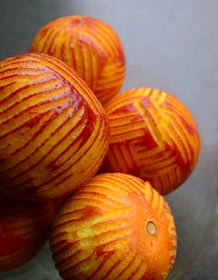 Blood Oranges Zested