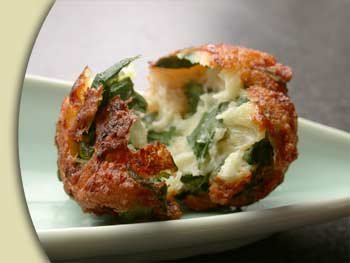 Savory Spinach Bacon Ricotta Fritter