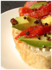 Openface Bacon Avocado Tomato
