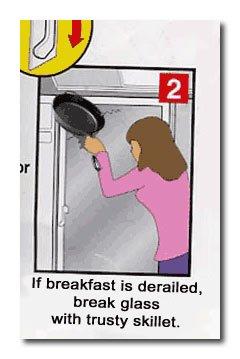 When breakfast is derailed...