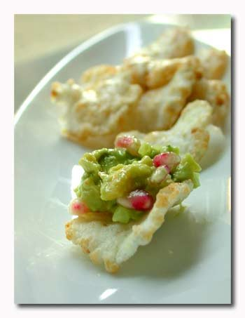 Juicy Shrimp Pomegranate Guacamole