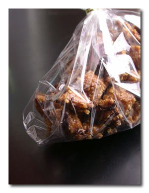 chocolate drizzled peanut butter pretzel praline