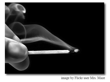 smoke image by Flickr user Mrs. Maze