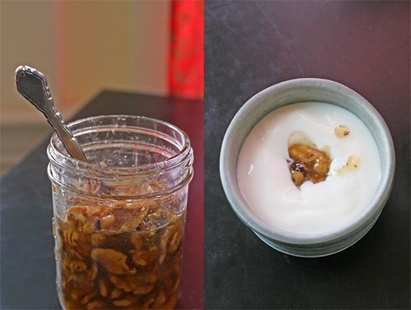 honeyed walnuts with yogurt